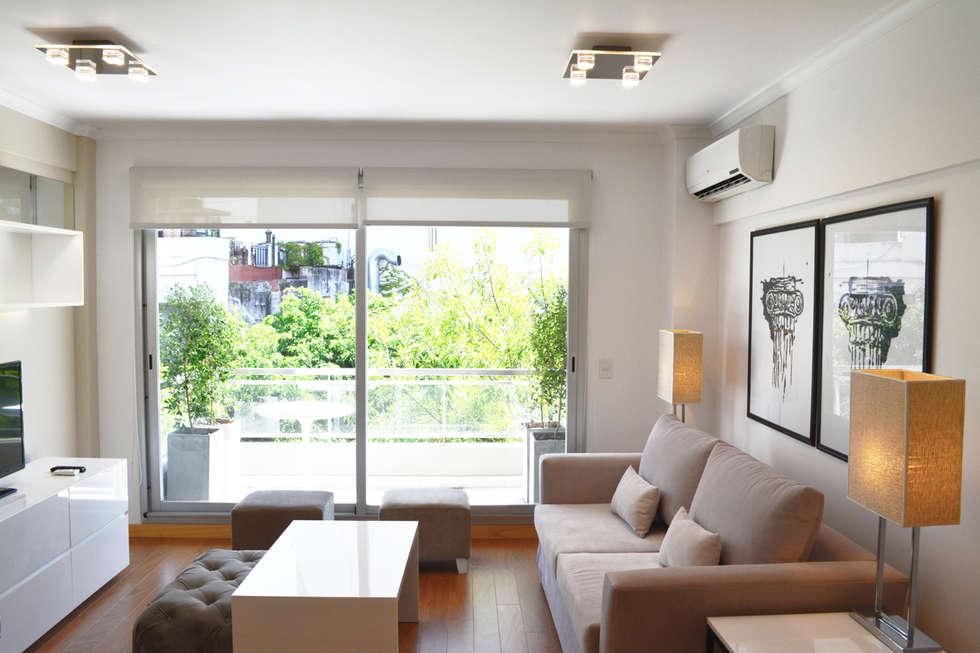 Balcón.: Terrazas de estilo  por Estudio Nicolas Pierry