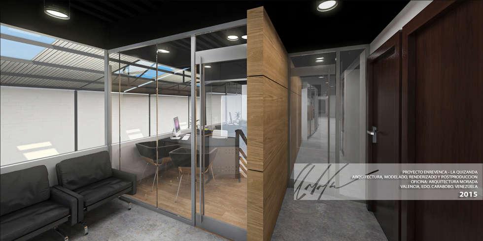 OFICINA: Oficinas y Tiendas de estilo  por Arq.AngelMedina+