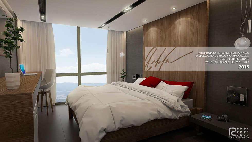Habitacion Tipo: Cuartos de estilo minimalista por Arq.AngelMedina+