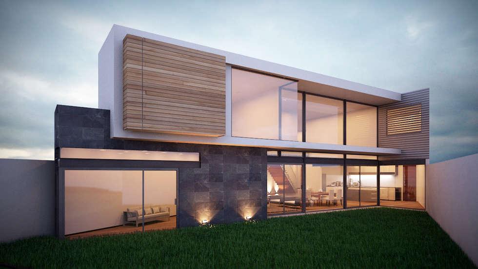 fachada moderna: Casas de estilo moderno por ORTHER Architects