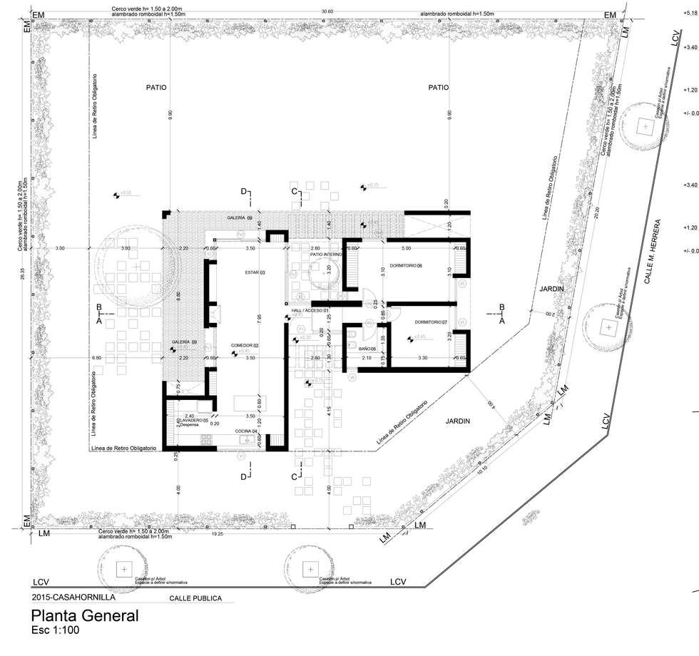 Planta general del proyecto:  de estilo  por 1.61 Arquitectos