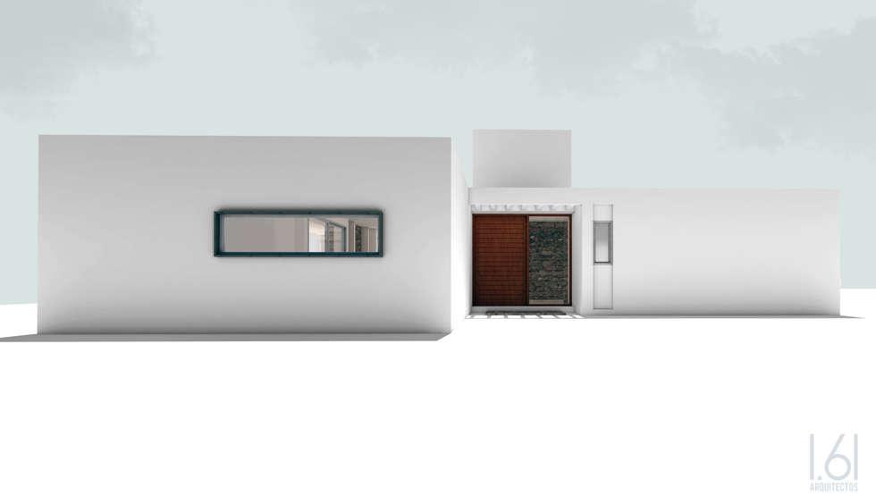 fachada sur: Casas de estilo minimalista por 1.61 Arquitectos
