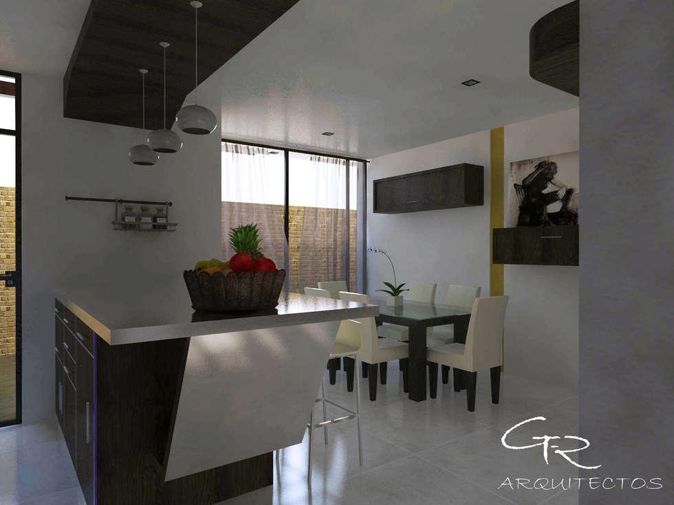 House Jc-1 : Comedores de estilo minimalista por GT-R Arquitectos