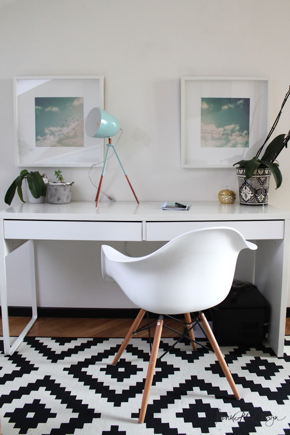 home office - project cool flat: Bureau de style de style eclectique par Severine Piller Design