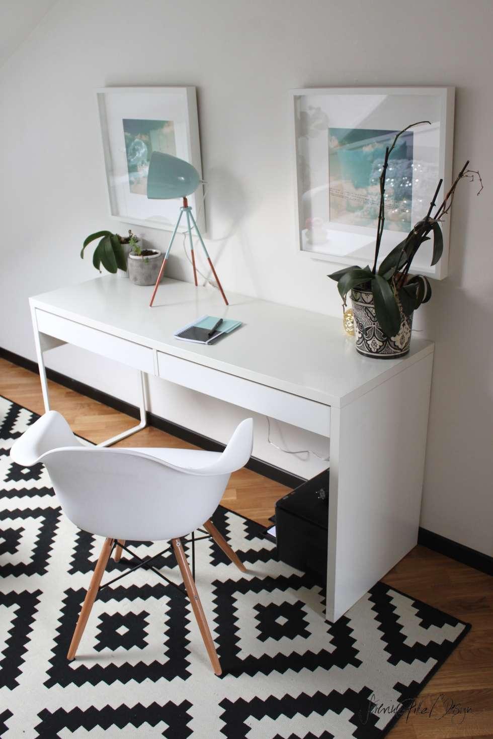 home office - project cool flat: Bureau de style de style eclectique par Severine Piller Design