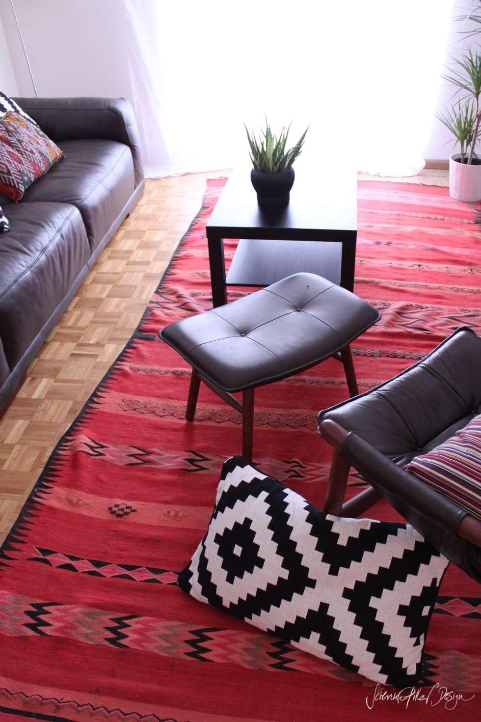 cool and cosy crib - geneva: Salon de style de style eclectique par Severine Piller Design