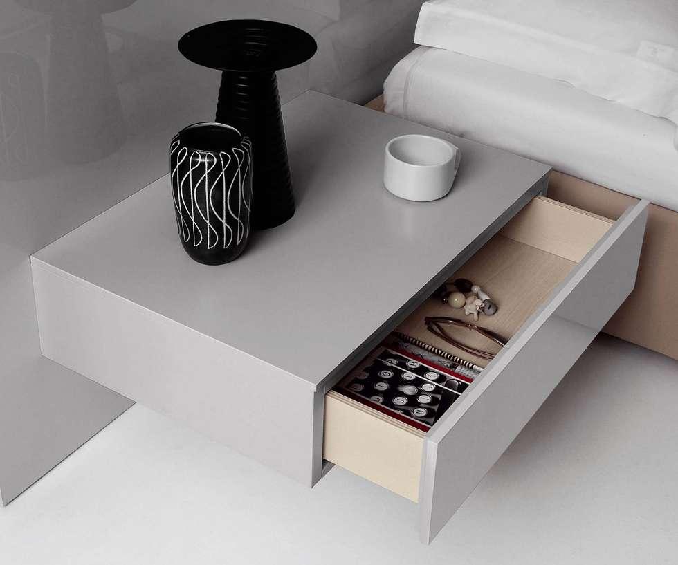 Design Nachttisch Mit Einer Schublade Hängend: Moderne Schlafzimmer Von  Livarea