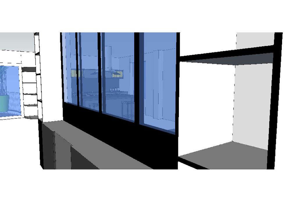 Vue depuis l'entrée: Couloir et hall d'entrée de style  par Vôtre Espace