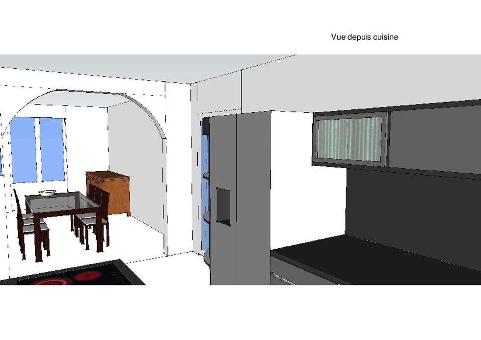 Vue de l'espace salle à manger: Salle à manger de style de style Moderne par Vôtre Espace