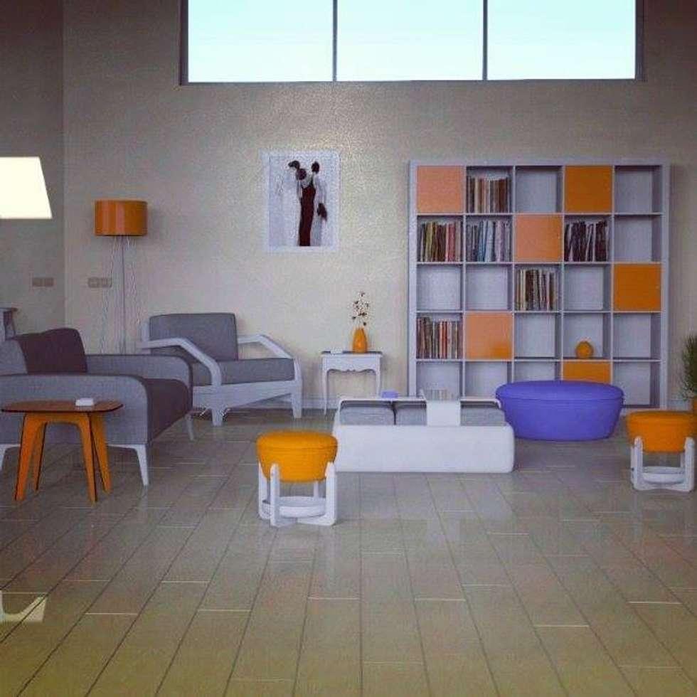 APP- LV - OPEN SPACE: Sala multimediale in stile  di Giovanni Cardinale Designer