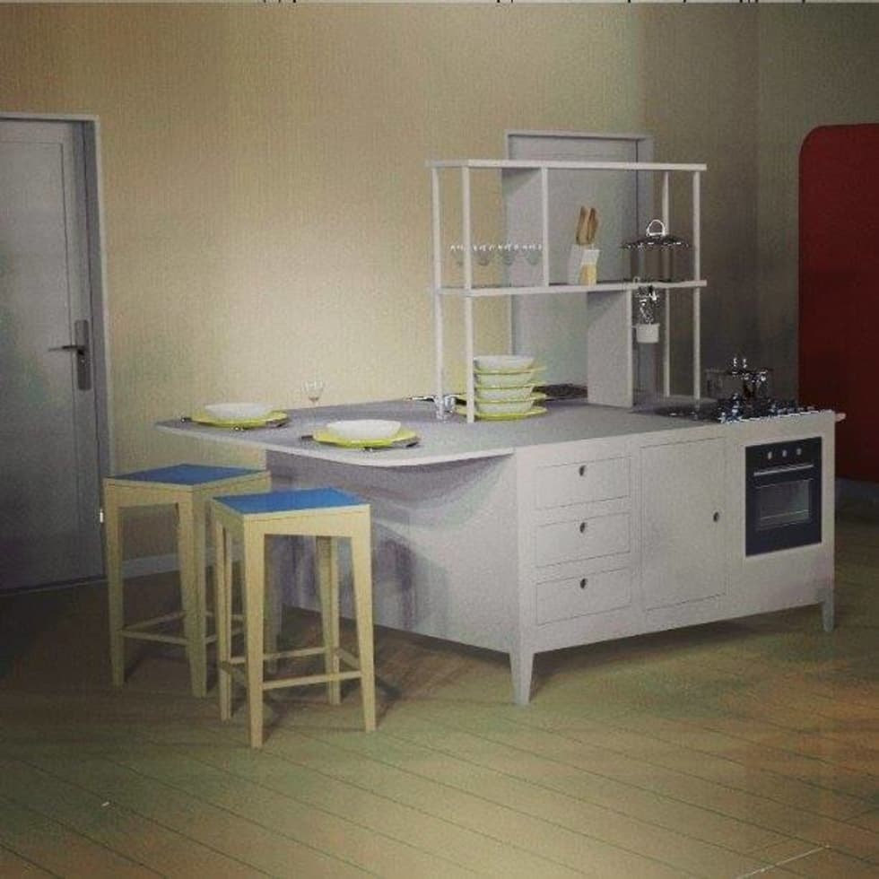 APP- LV - OPEN SPACE: Cucina in stile in stile Eclettico di Giovanni Cardinale Designer