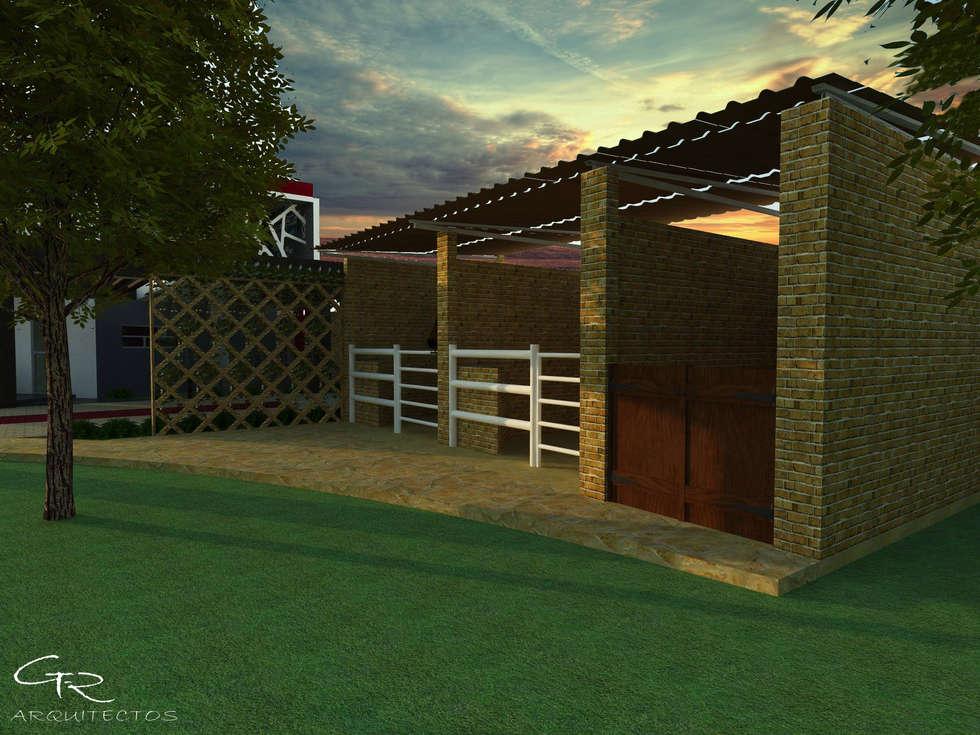 House Paraíso: Jardines de estilo moderno por GT-R Arquitectos