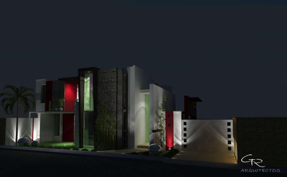 House Paraíso: Casas de estilo moderno por GT-R Arquitectos