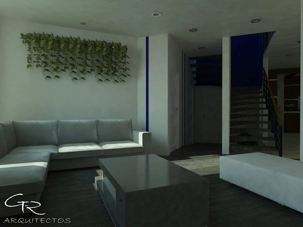 House Paraíso: Salas de estilo moderno por GT-R Arquitectos