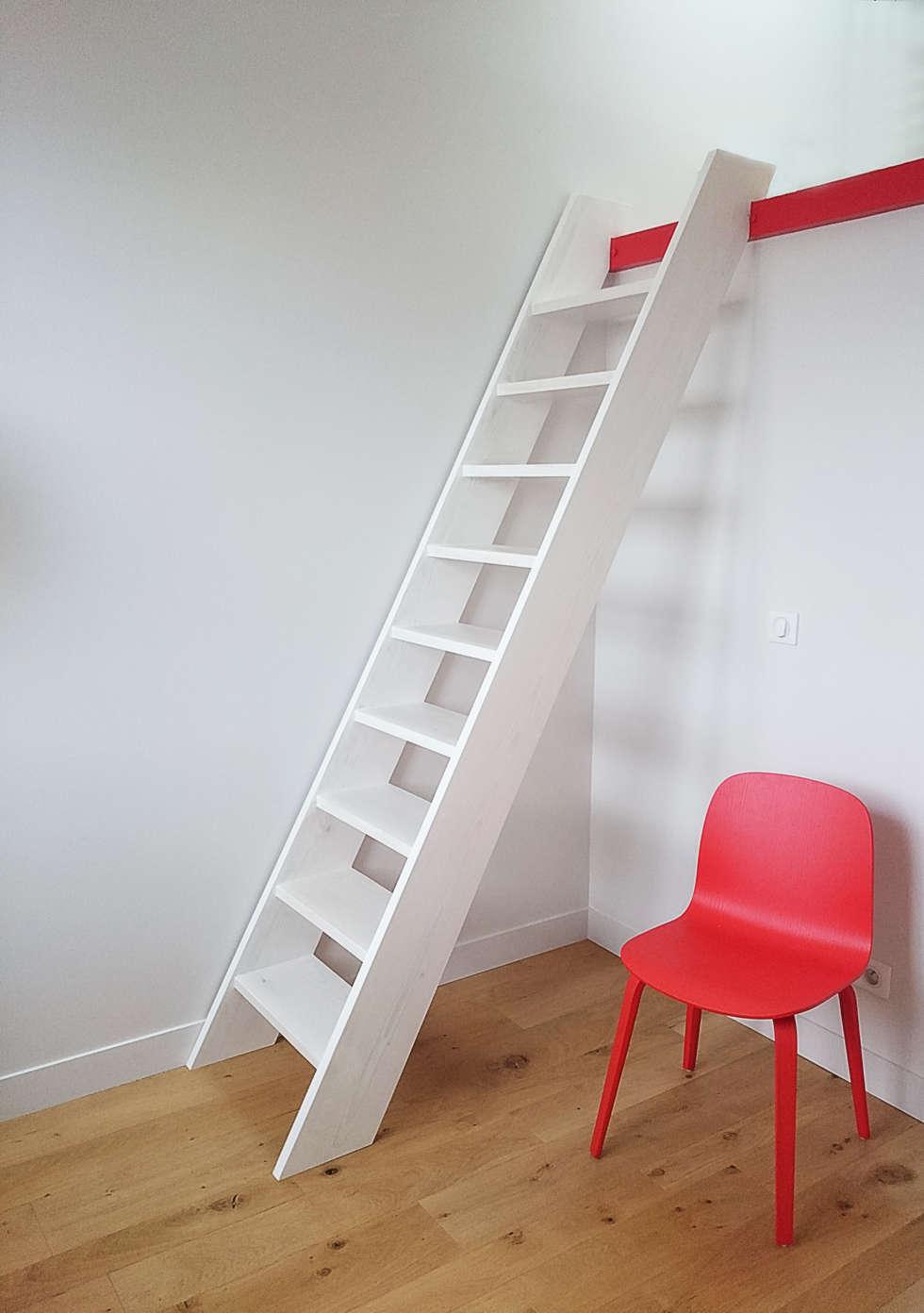 Echelle de meunier : Chambre de style de style Minimaliste par Atelier Laurence-Sanchez