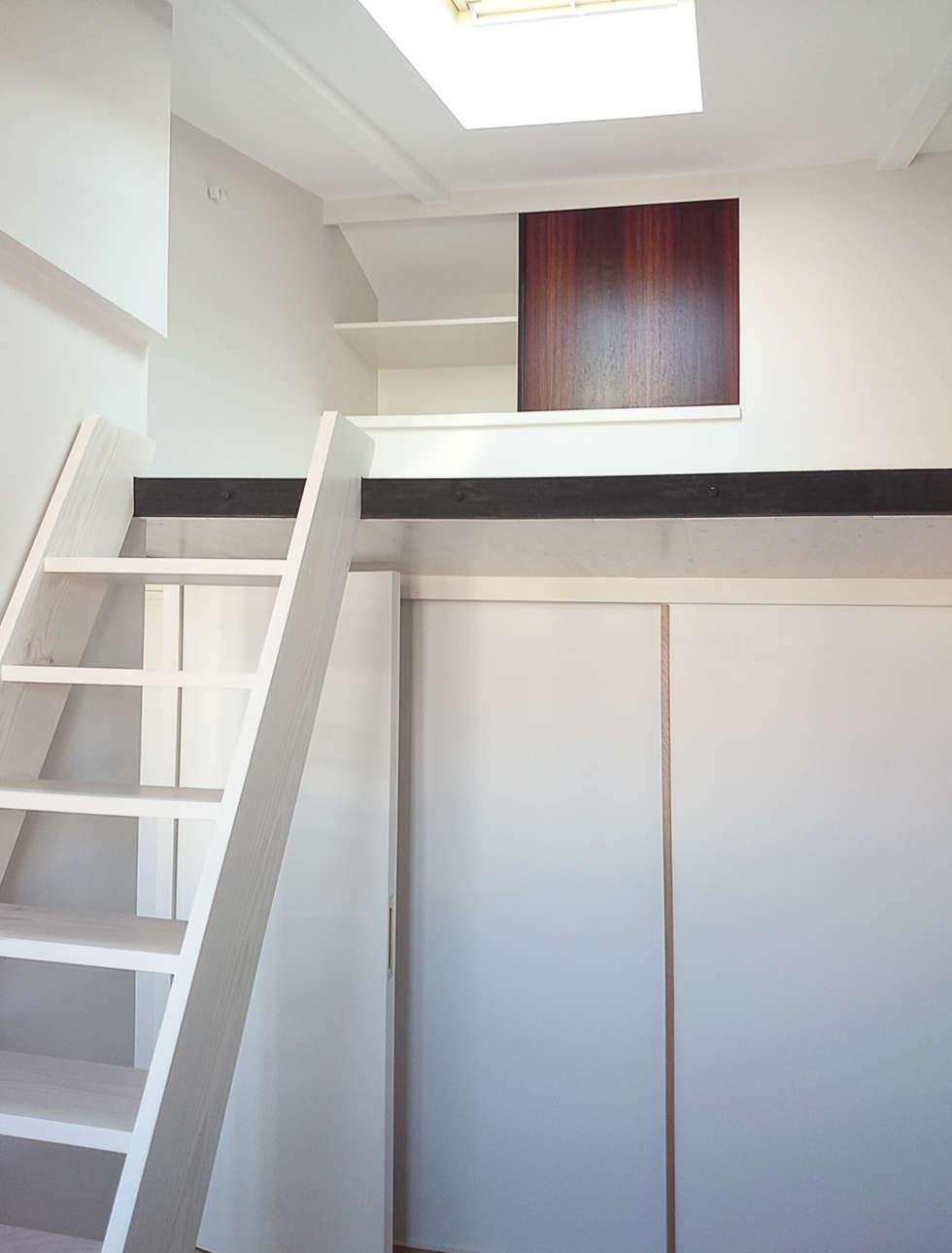 Dressing sous mezzanine: Chambre de style de style Minimaliste par Atelier Laurence-Sanchez