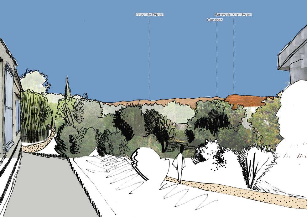 Redécouvrir les horizons des collines: Jardin de style de style Méditerranéen par Atelier Pierre David Paysagiste