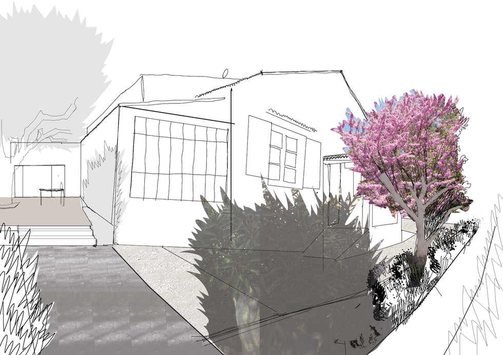 Etat projet : Jardin de style de style Méditerranéen par Atelier Pierre David Paysagiste