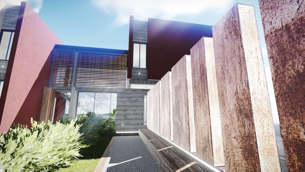 Acceso: Casas de estilo moderno por Estudio Mutuo