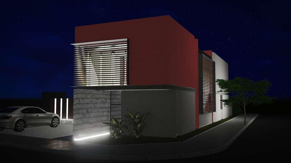 Frente Sur: Casas de estilo moderno por Estudio Mutuo