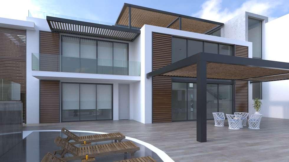 Fachada principal: Casas de estilo moderno por Area5 arquitectura SAS