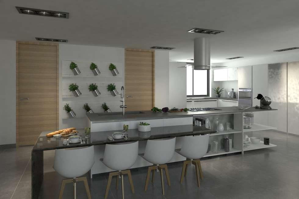Cocina: Cocinas de estilo moderno por Area5 arquitectura SAS