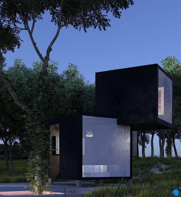 Black Box: Casas de estilo minimalista por BenSin Estudio de Visualización