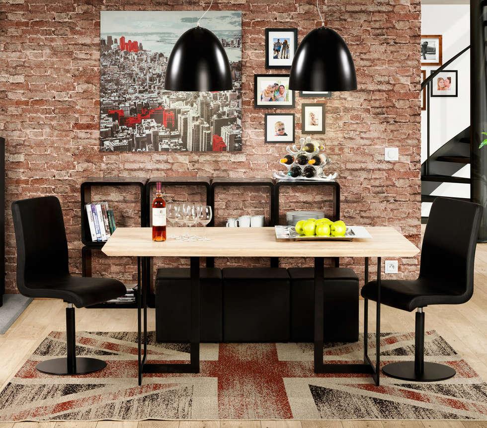 Décoration de salle à manger style industriel: salle à manger de ...