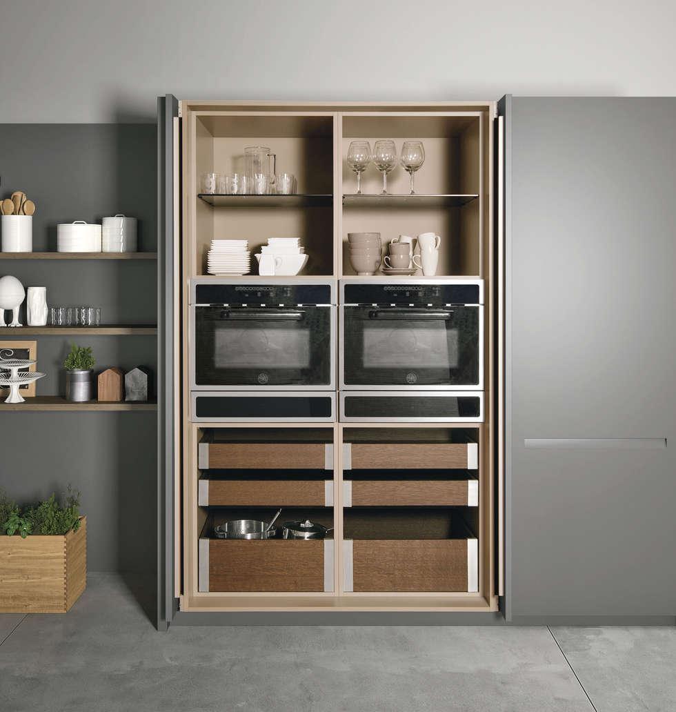 Cozinha Extra da Doimo Cucine: Cozinhas modernas por Grupo Emme Cozinhas