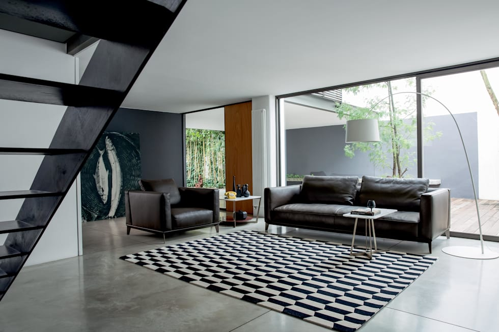 Living Bowie 1-a: Soggiorno in stile in stile Moderno di Alberta Pacific Furniture
