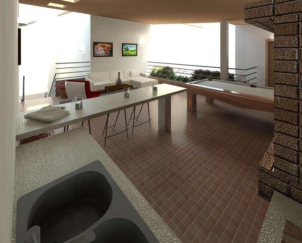 Dise o de rea recreacional salas recibidores de estilo moderno por dise o store homify - Diseno de recibidores ...