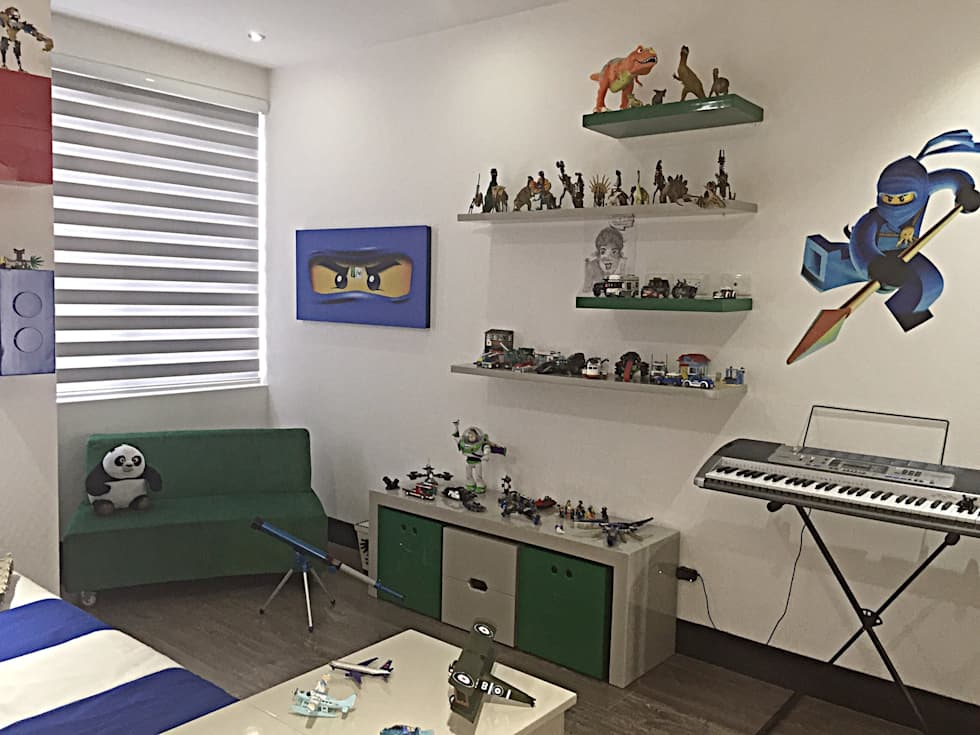 Habitación Lego: Habitaciones infantiles de estilo  por ea interiorismo