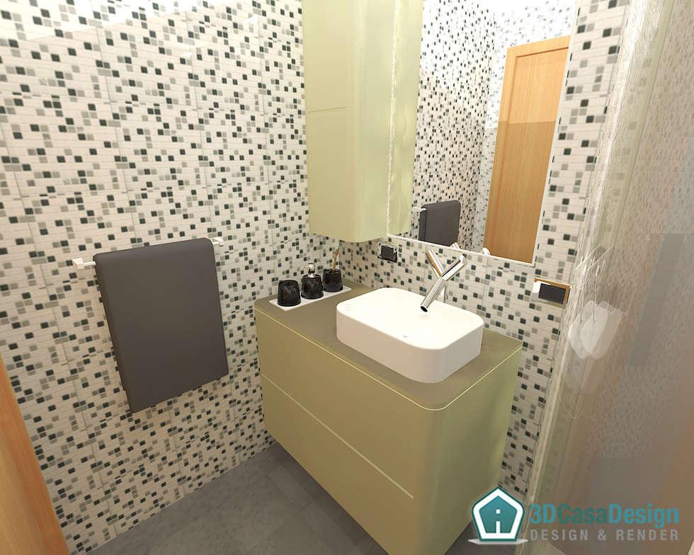 3D Casa Design - bagno di servizio: Bagno in stile in stile Moderno di 3d Casa Design