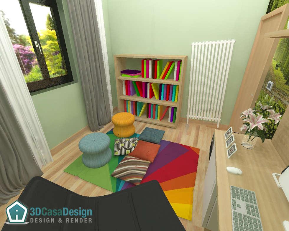 3D Casa Design - studio: Studio in stile in stile Moderno di 3d Casa Design