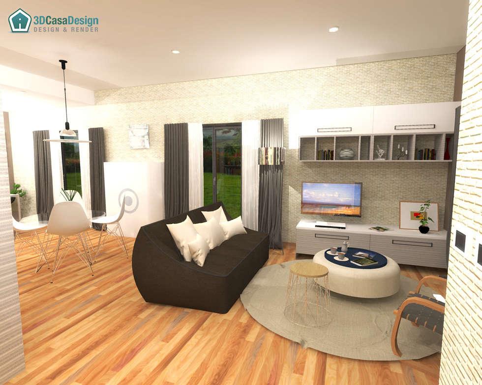 3D Casa Design - soggiorno: Soggiorno in stile in stile Moderno di 3d Casa Design