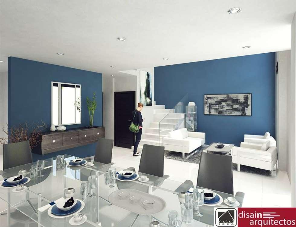 Modelo 2N Interiores: Salas de estilo moderno por disain arquitectos