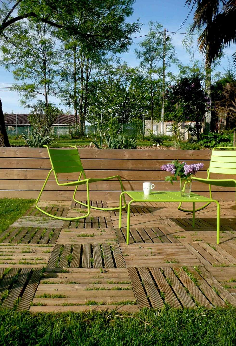 Caillebotis de jardin best en bois naturel with for Caillebotis jardin