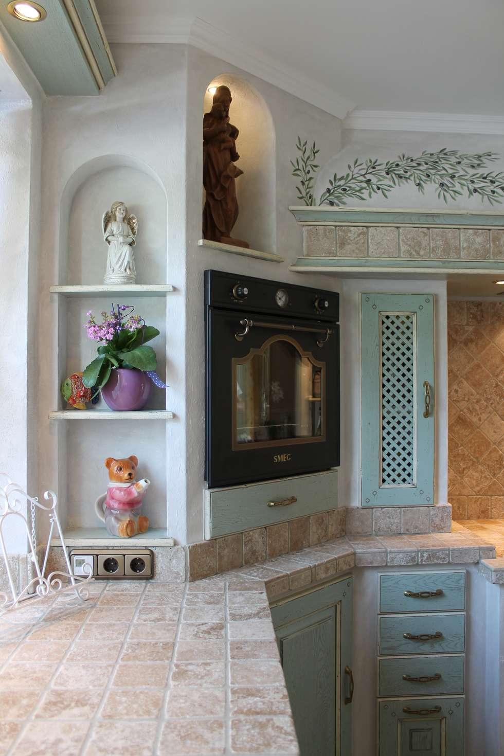 Faszinierend Küche Mediterran Das Beste Von Villa Medici Mediterrane Küche Avignon Hellblau Weiß: