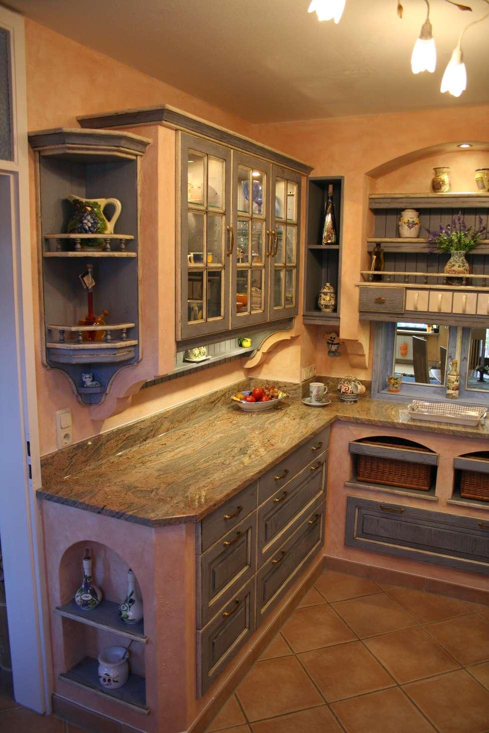 Geräumig Küchen Landhausstil Mediterran Ideen Von Villa Medici Mediterrane Küche Blau Weiß: Küche