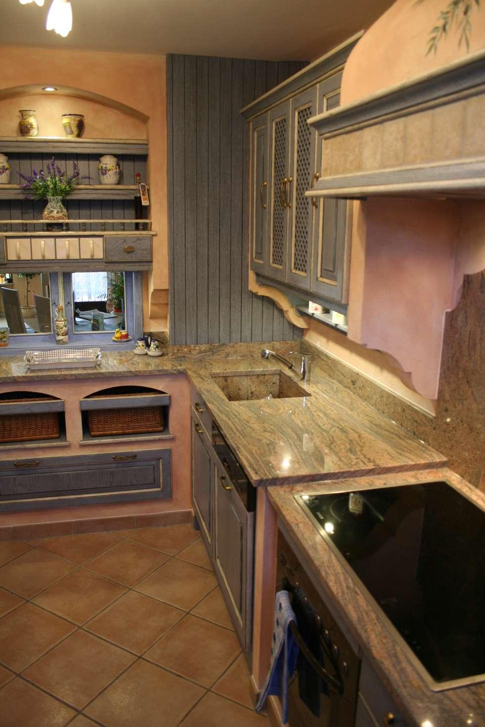 Cool Küche Mediterran Galerie Von Villa Medici Mediterrane Küche Blau Weiß: Mediterrane