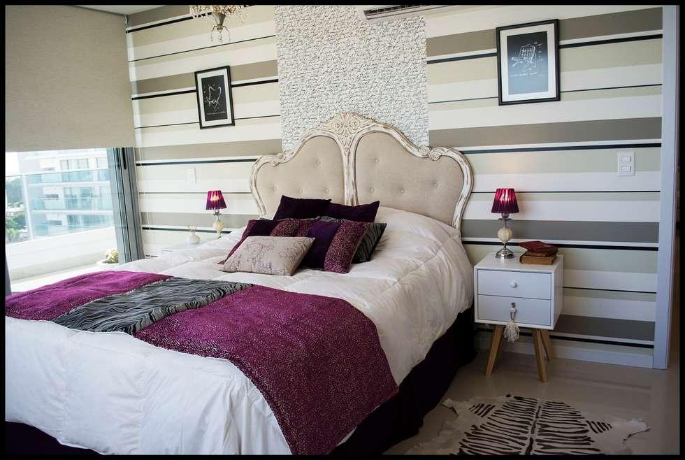 Dormitorio Principal: Dormitorios de estilo ecléctico por Diseñadora Lucia Casanova