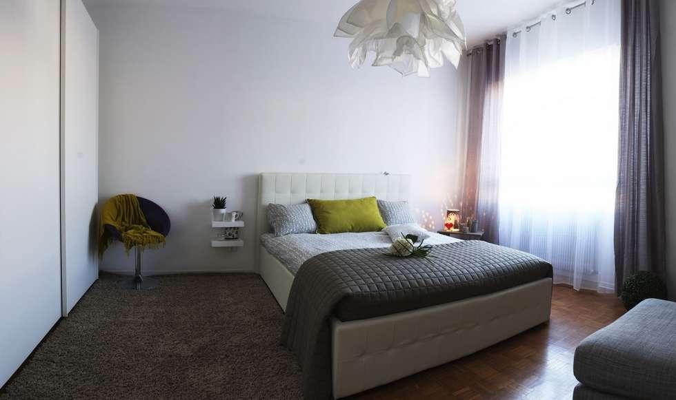 Dopo: Camera da letto in stile in stile Moderno di homeSbattistella