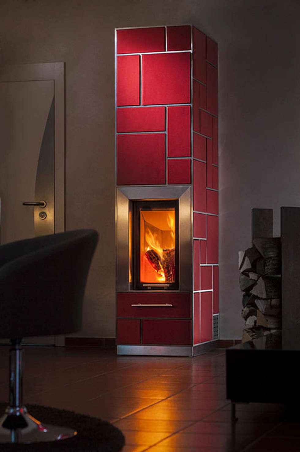ausgefallene wohnzimmer bilder: edelstahl – heizkamin | homify, Hause deko