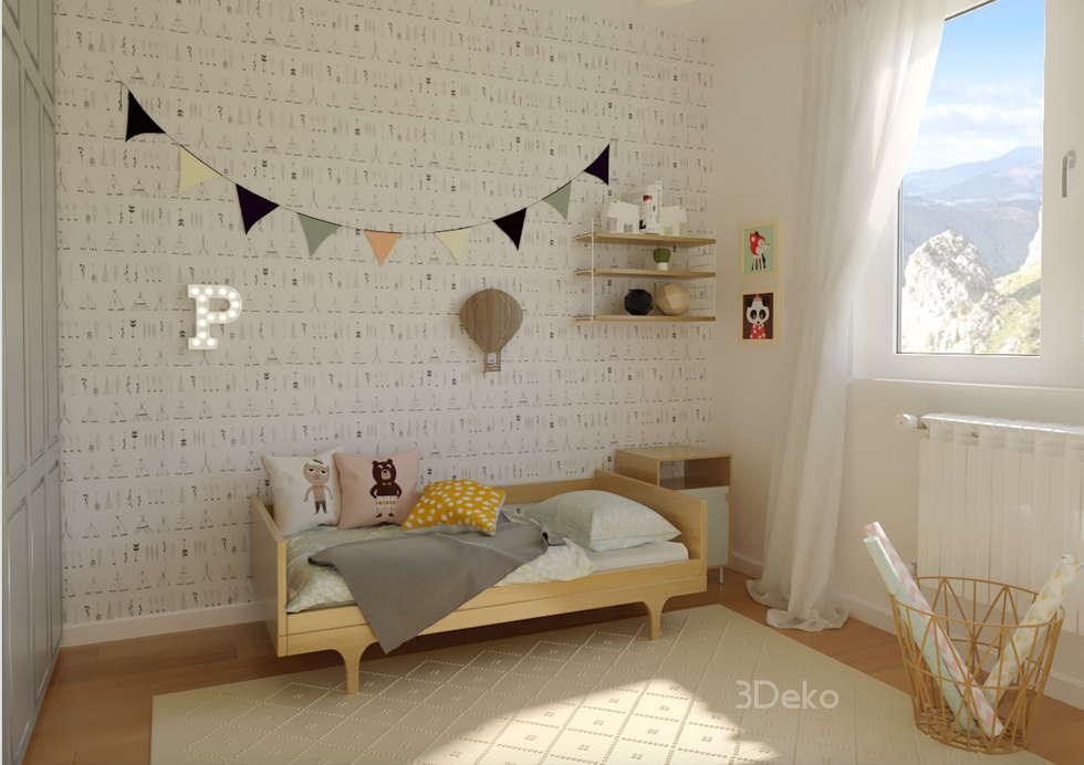Habitación infantil: Recámaras infantiles de estilo escandinavo por 3Deko