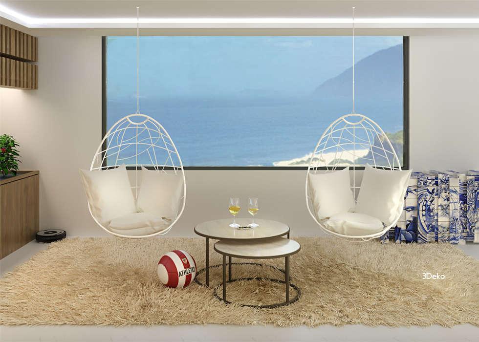 Salón en 3D: Comedores de estilo moderno por 3Deko