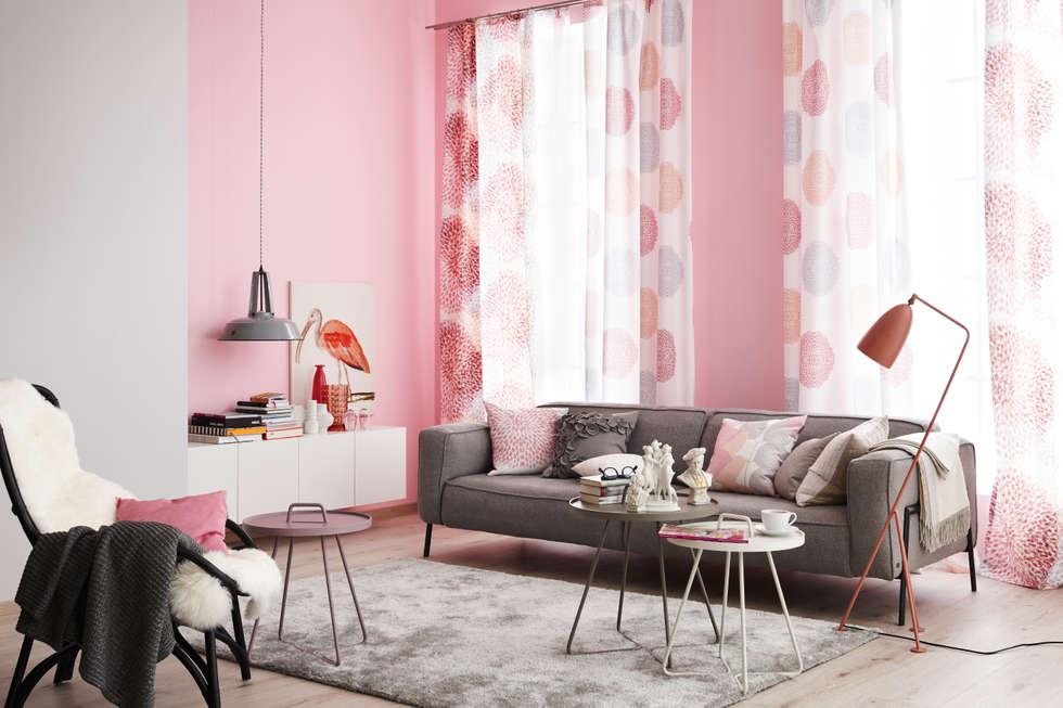 Die Neue Romantik: Moderne Wohnzimmer Von SCHÖNER WOHNEN FARBE