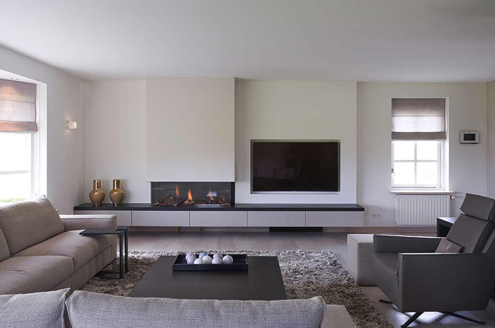 Villa hilversum: rustieke & brocante woonkamer door designa