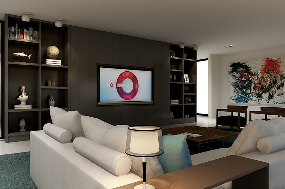 Villa paramaribo: moderne woonkamer door designa interieur