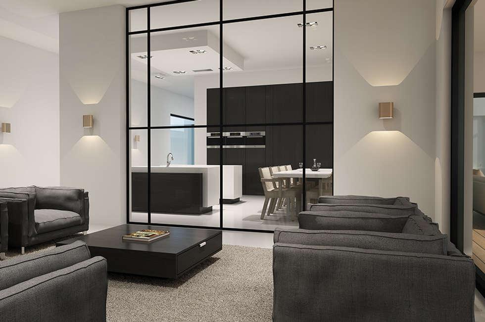 Villa paramaribo: moderne woonkamer door designa interieur ...