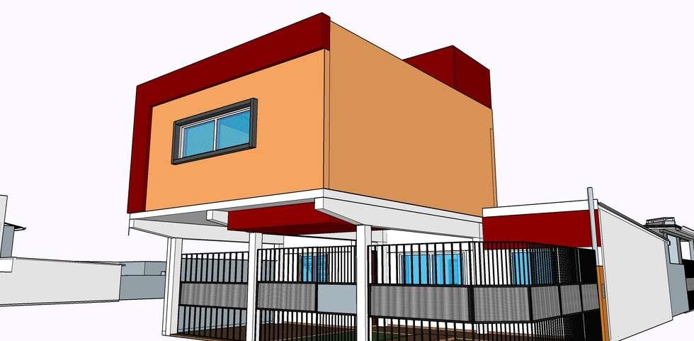Casa WM: Casas de estilo moderno por GM Arquitectura&Construcción